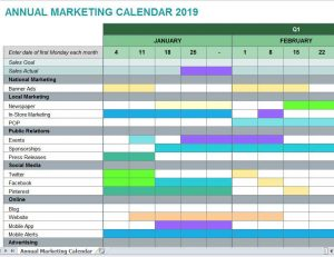 marketing calendar planning